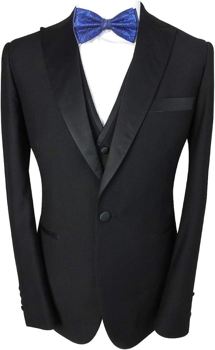 Men Tuxedo Suit Formal Tailored Fit Wedding Birthda Manufacturer OFFicial shop Set 3 Piece Omaha Mall