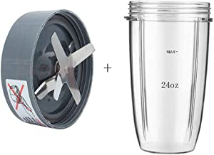 Nutribullet Cup 24oz Juice Extractor Cup with Juicer Stirring Blades Juice Machine Parts Replacement for Nutribullet High-Speed Blender/Mixer System 600W-900W Series