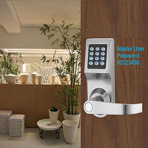 THINKSOGOOD Electronic Keypad Door Lock, Unlock with Code, Remote, RFID Card and Key, Smartcode Digital Home & Office Security Lock (Reversible Handle)