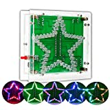 IS DIY Soldering Project kit Colorful Flashing, Star Shape with Acrylic Shell, Great School STEM...