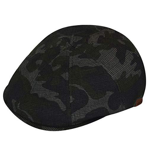 Kangol Camouflage Pattern Flexfit Flatcap Baumwollcap Schirmmütze Schiebermütze (S/M (54-57 cm) - Camouflage)
