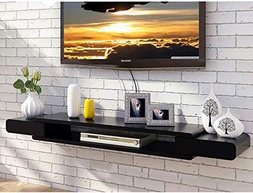 N/Z Home Equipment TV Shelf Wall Mounted 2 Tier Media Console Floating...