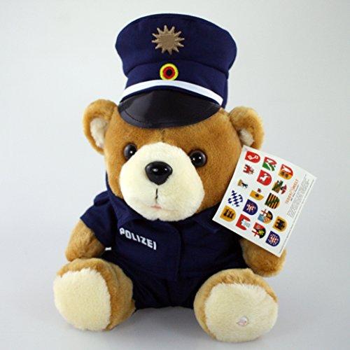 MIH-Medical Polizei Teddy - Polizeiteddy - Plüschteddy - Kuscheltier inkl. GRATIS Schlüsselanhänger