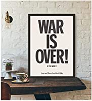 MKAN War Is Over Poster Wall Art Wall Decor Prints Art Poster Paintings For Living Room-40X50Cm