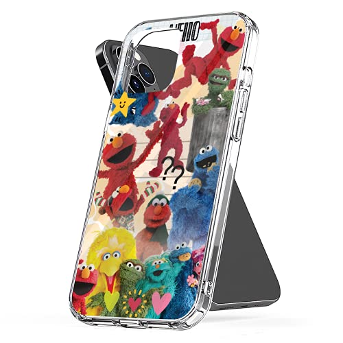 Phone Case Compatible with iPhone 6 7 Xr 2020 8 12 X 11 Se Small 6s Elmo Plus Collage Xs Pro Max Mini Collage Photo Mixed Jumbo Combine Media