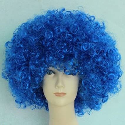 Unisex Clown Wig Circus Funny Fancy Party Dress Accessory Afro Stag Do Fun Joker