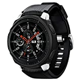 Spigen Liquid Air Armor Compatible con Samsung Galaxy Watch Funda 46mm (2018) /Samsung Gear S3 Frontier Funda (2017) - Negro