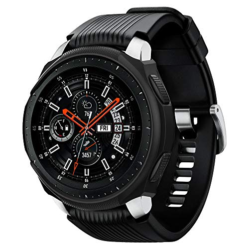 Spigen Liquid Air Armor Compatibile con Samsung Galaxy Watch Custodia 46mm (2018) / Samsung Gear S3 Frontier Custodia (2017) - Nero