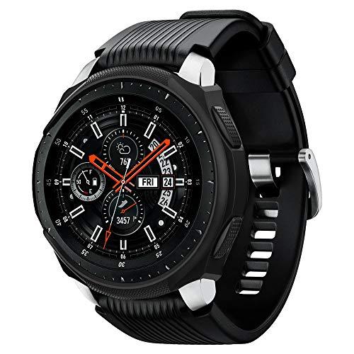 Spigen Liquid Air Armor compatibile con Samsung Galaxy Watch Case 46mm (2018) / compatibile con Samsung Gear S3 Frontier Case (2017) / Smartwatch Case - Nero
