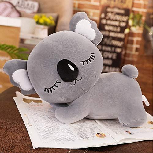 Koala Knuffels, Soft Cartoon Animal Koala Gevulde Poppen, Slaapbank Kussen Dutje Kussen, Vrienden Gift 50Cm (Grijs)