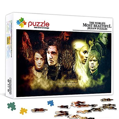"""Jon Snow e Daenerys Game of Thrones Puzzle 1000 pezzi per adulti Puzzle di cartone Giocattoli interessanti Regalo personalizzato Gioco di puzzle per famiglie 27,6""""x 19,7"""""""