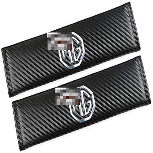LLFFDC 2Pcs Almohadillas CinturóN de Seguridad para MG, Almohadilla del CinturóN Seguridad AutomóVil CinturóN Seguridad Carbono Protege Tu Cuello Y Hombros Apertura Cortical