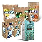 Flopp - Pack Limpieza Sostenible y Vegano en Cápsulas: 1 Detergente Eco, 1 Perfume Ropa, 1...