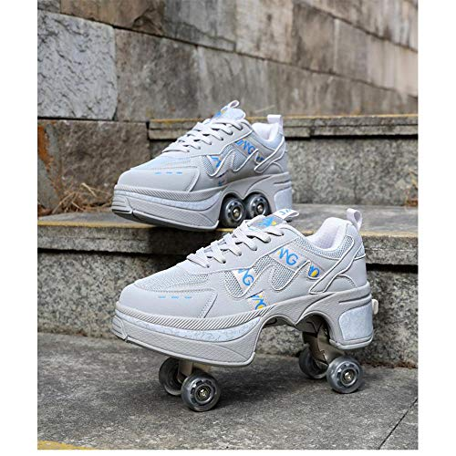 ZHANGYY Multifunctional Deformed Shoes Children Students Adult Roller Skating Roller Skates Outdoor Sports Skating Travel Best Choice,for Unisex Beginners Gift,B-43