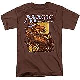 Magic The Gathering Urzas Saga Deck Art Unisex Adult T Shirt for Men and Women, X-Large Coffee