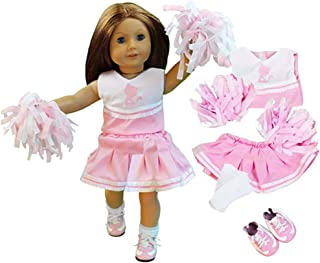 Dress Along Dolly Cheerleader Doll Outfit for American Girl & 18