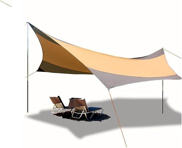 L&Z Hamac Rain Fly Tente Bache étanche Coupe-Vent Anti-Neige Camping Abri Portable550  560Cm