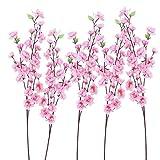 ultnice 6pcs pesca ramo in fiore rosa di seta fiori decorativi fiori Corone