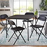 Card Table with Chairs Set of 4 Multipurpose Black Folding Card Table and Chair Set Durable and Sturdy Card Table and Chairs Set Foldable and PRTABLE for Indoor OR Outdoor USE