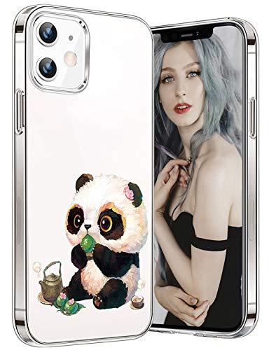 Tcbydl Funda para iPhone 12 Mini, diseño de animal, de silicona TPU, transparente, suave y fina, para mujeres y hombres, Apple Clear (3,5,4 pulgadas)
