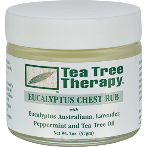Tea Tree Therapy Eucalyptus Australian Chest Oil, Lavender Peppermint and Tea Tree, 2 Ounce (2-Pack)