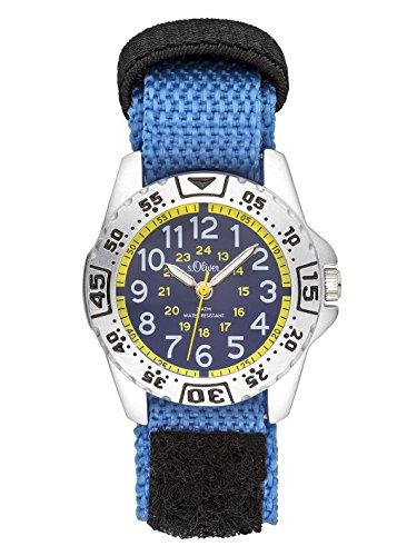s.Oliver Unisex Kinder Analog Quarz Uhr mit Nylon Armband