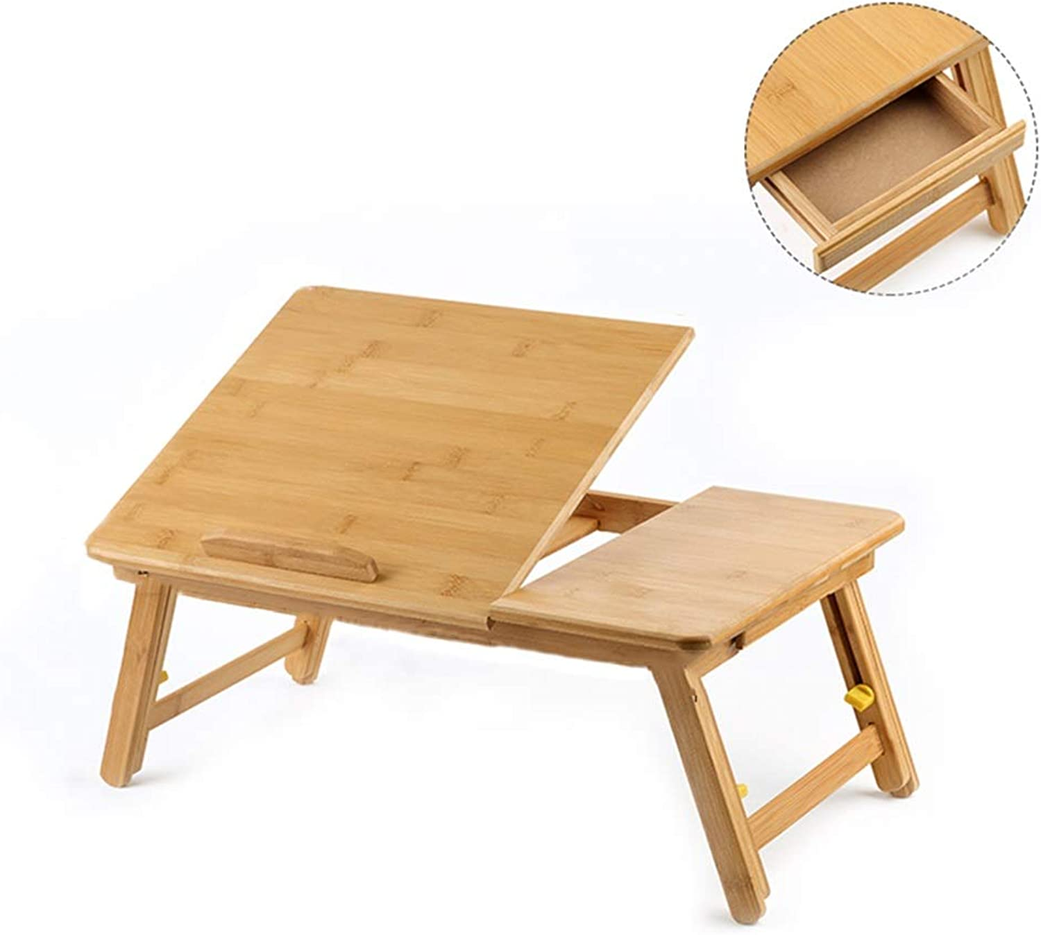 Multi-Function Bed Folding Study Table, Bamboo Adjustable Lifting Computer Table, Suitable for Floor Sofa Bedroom (2 Sizes) (color   65×39.5×30cm)