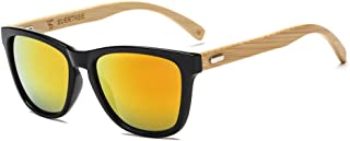 SUERTREE Fashion Bamboo Sunglasses Women Man Vintage Wood Sun Glasses Retro Wooden Shades JH8002