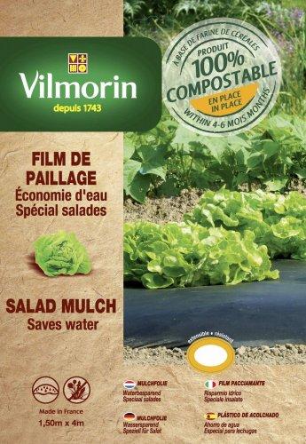 Vilmorin VH06087 Film de Paillage pour Salades Farine de Céréales 20 mm 1,50 x 4 m