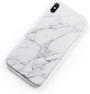 uCOLOR Case Compatible iPhone Xs Max White Marble Glossy Slim Soft TPU Silicone Shockproof Cover Compatible iPhone Xs Max(6.5