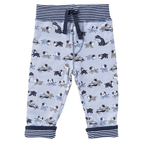 People Wear Organic Pantalon réversible double couche Motif lapin Rose clair - Bleu - 86 cm/92 cm