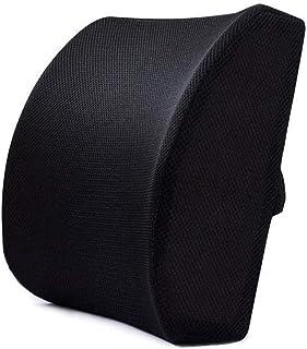 Abilieauty Viscoelástico Asiento Silla Lumbar Apoyo Lumbar Cojín para la Oficina Hogar Coche - Negro