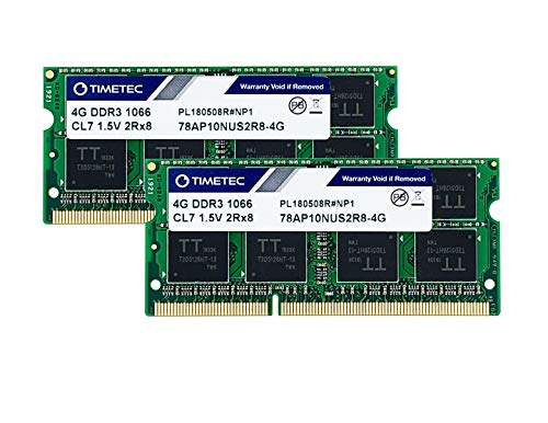 Timetec Hynix IC 8 GB キット (2x4GB) の Mac用 DDR3 PC3-8500 1066 MHz Apple専用増設メモリ 永久保証 (2x4GB))