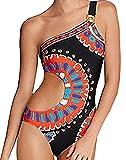 Costumi Interi Senza Spalline Schienale Monokini Sexy Donna Hot Bikini Halter Neck Etnico Boho Chic Costume da Bagno Nuoto Surf Spa Mare Trikini Push Up Retro Color Block Swimwear Coordinato Swimsuit