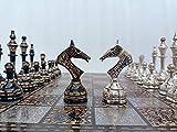 Generic Juego de Tablero y Piezas de ajedrez de Metal de la Serie soviética Rusa de 14