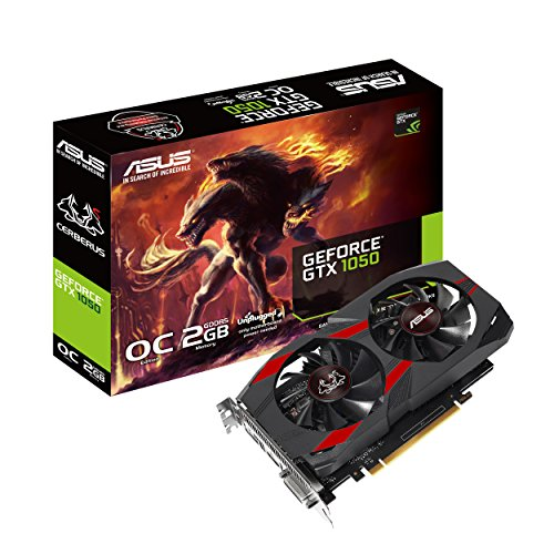 Scheda video ASUS Cerberus GeForce GTX 1050 OC Edition 2GB GDDR5 - DVI-D HDMI DP 1.4
