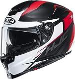 HJC Helmets Herren Nc Motorrad Helm, Schwarz/Weiss/Rot, M