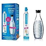 Der Zylinder und die Glaskaraffe sind nicht kompatibel mit dem SodaStream Wassersprudler DUO Sodastream Reservezylinder: Mit einem zusätzlichen Zylinder aus dem Reservepack können Sie weiter sprudeln, während Sie den anderen Zylinder tauschen Sodastr...