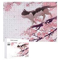 500ピース 1000ピース ジグソーパズル 猫柄 ねこ 桜 さくら パズルデコレーション 木製パズル じぐそーぱずる じぐそー パズル puzzle 板パズル 飾り 子供 初心者向け ギフト プレゼント