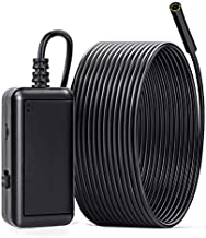 WiFi Endoscope Inspection Camera, IP67 Waterproof Wireless Borescope 5 Megapixels HD Semi-Rigid Cable Snake Camera with 6 LED Lights for Android and iOS Smartphone and Tablet (16.5FT, 5.5mm)