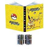 Soporte de tarjeta de álbum de recortes compatible con tarjetas de Pokemon, carpeta de tarjetas, soporte de álbum de tarjeta, álbum de portada, las mejores tarjetas de intercambio - Eevee&&Bikachu