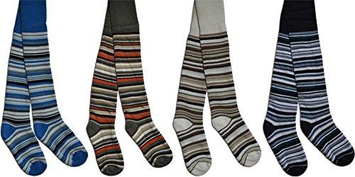 normani 2 x Schöne warme Kinder Thermo Strumpfhosen in verschiedenen Motiven für kalte Wintertage Thermostrumpfhose Farbe Junge Größe 110-116