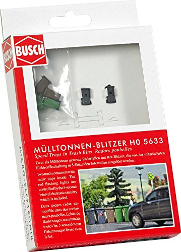 Busch 5633 Piège à Radar dans Un Centre Poubelle Ho modèle échelle