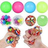 DNA Squishy Stress Balls for Kids - 8PCS Stress Ball Fidget Toy Squeeze Water Bead Sensory Ball Squeezing Ball Squishy Ball Toys Set for Adults Anxiety Autism ADHD