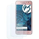 Bruni Schutzfolie kompatibel mit Samsung Galaxy Grand Prime Plus Folie, glasklare Bildschirmschutzfolie (2X)