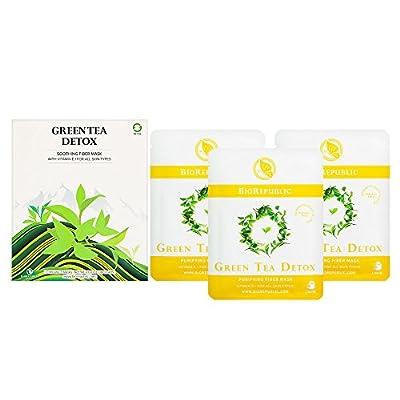 BioRepublic Green Tea Detox Soothing Fiber Mask Contains 3 Masks by Biorepublic