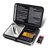 Fuzion Digital Pocket Scale 200g/0.01g, Scale Gram with LCD Display, Tare and PCS, Mini Digital Scale with 50g Calibration Weight for Jewelry, Coins, Powder, Herbs, Spices (Battery Included)
