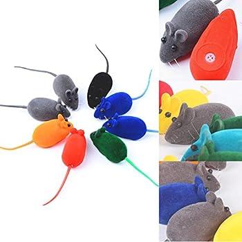 La Cabina 10 pcs Petit Souris Jouet pour Chat Chien Pet Squeak Bruit Rat Jouet Qui Couine (Couleur aléatoire)