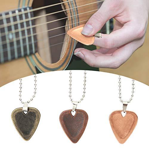 banapo Collar con Colgante de púa de Guitarra, Colgante de púa de Guitarra, 3 Piezas de aleación de Zinc para Amantes de la Guitarra, Mujeres y Hombres