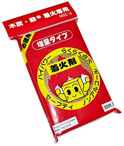 着火剤 ノンアルコールタイプ 増量30片入れ 木炭 薪 専用 日本製 MSC-3